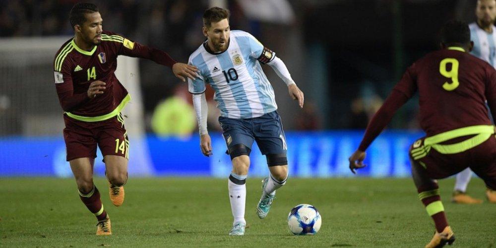 Argentia empata por un agutogol contra Venezuela