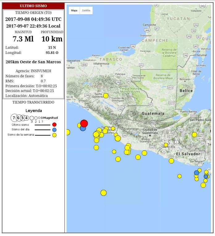 El sismo tuvo una intensidad de 8 grados en la escala de mercali