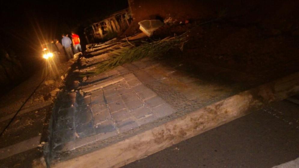 Se registra el colapso de muros perimetrales del cementerio de San Idelfonso Ixtahuacán, Huehuetenango toto conred